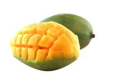Fresh mango over white Stock Image