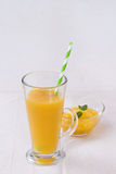 Fresh mango smoothie Stock Photography