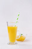 Fresh mango smoothie Royalty Free Stock Images