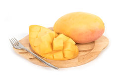Fresh Mangoes and slice Royalty Free Stock Photos