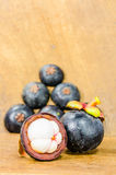 Fresh mangosteen Stock Photography