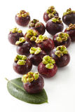 Fresh mangosteen fruit Royalty Free Stock Photography