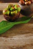 Fresh Mangosteen fruit Stock Image