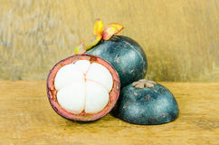Fresh mangosteen, Garcinia mangostana Linn Royalty Free Stock Image