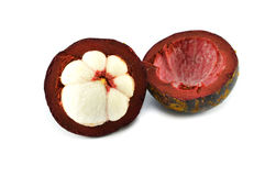 Fresh mangosteen Royalty Free Stock Photo