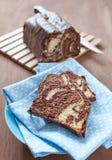Fresh marble cake Stock Image