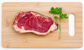 Fresh marbled meat Stock Photo