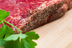 Fresh marbled meat Royalty Free Stock Photo