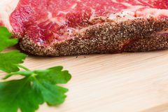 Fresh marbled meat Stock Photos