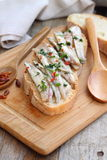 Fresh marinated anchovies Stock Images