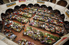 Fresh market. An aerial view of an open fresh market in Kota Bharu royalty free stock photo