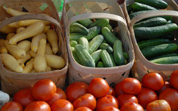 Fresh market. Fresh vegetables for sale at a local farmers market Stock Photo