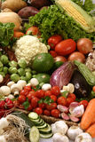 Fresh market. A group of fresh vegetables at full image Stock Photo