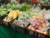 Fresh market with fresh vegetables from farmers Royalty Free Stock Image
