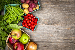 Fresh market fruits and vegetables Royalty Free Stock Photos