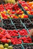 Fresh market produce. At an outdoor farmer's market Stock Photos