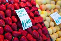 Fresh market produce at an outdoor farmer's market Stock Photo
