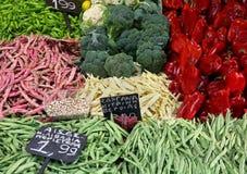 Fresh market stall royalty free stock photo