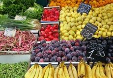Fresh market stall stock photos