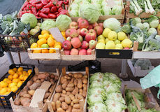 Fresh market stall Stock Photography