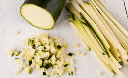 Fresh marrow or courgette Stock Image