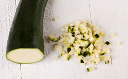 Fresh marrow or courgette Royalty Free Stock Image