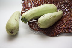 Fresh marrow on white Stock Images