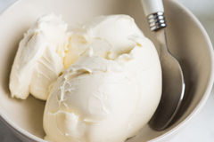 Fresh mascarpone Stock Images
