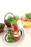 Fresh May wine with strawberries Royalty Free Stock Images