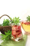 Fresh May wine with woodruff Royalty Free Stock Photography