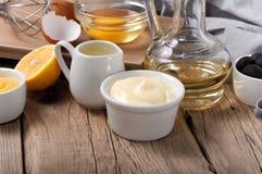 Fresh mayonnaise Royalty Free Stock Photos