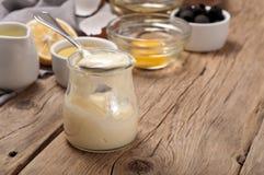 Fresh mayonnaise Stock Image