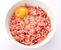 Fresh meat. Some fresh meat with an raw egg Stock Images