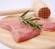 Fresh meat. Some fresh meat of a cow with rosemary Stock Images