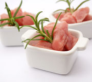 Fresh meat. Some fresh meat of a cow with rosemary Royalty Free Stock Photography