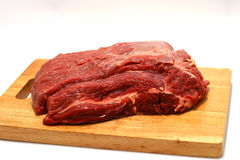 Fresh meat. Fresh beef meat on plate Royalty Free Stock Photography