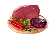 Fresh meat beef with herbs and spices Stock Image