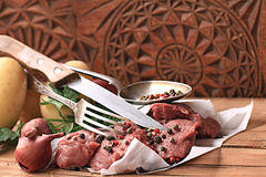 Fresh meat beef tenderloin. With spice Royalty Free Stock Photos