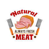 Fresh meat. Butcher shop, restaurant emblem Royalty Free Stock Photos