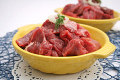 Fresh meat of a cow. Some fresh meat of a cow Stock Images