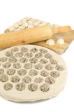 Fresh meat dumplings Stock Photo