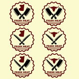Fresh meat emblems Royalty Free Stock Photo