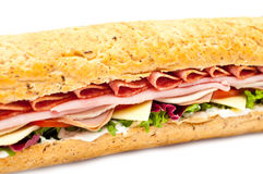 Fresh meat feast salad baguette sub isolated Stock Images