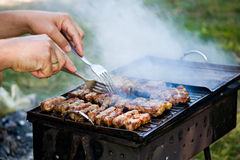 Fresh meat grill roasting Royalty Free Stock Photography