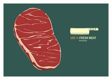 Fresh meat illustration Stock Photography
