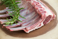 Fresh meat. Lamb ribs. Raw meat. Stock Images