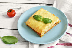 Fresh meat lasagne, lasagne bolognese Royalty Free Stock Images