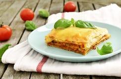 Fresh meat lasagne, lasagne bolognese Stock Image