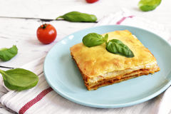 Fresh meat lasagne, lasagne bolognese Stock Images