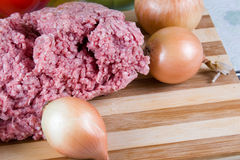 Fresh meat and onion Stock Image